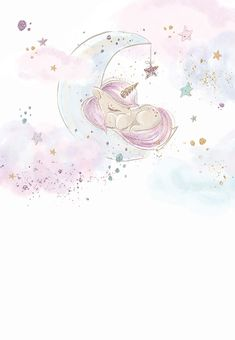 Baby Unicorn - Baby Shower Invitation Template (Free in 2019 Baby Shower Invitation Templates, Shower Invitations, Unicorn Invitations, Baby Invitations, Baby Shower Unicornio, Baby Shower Greetings, Unicorn Wallpaper Cute, Unicornios Wallpaper, Unicorn Baby Shower
