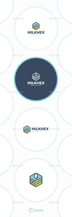 Hexagon Milk Logo Drop Field — Vector EPS #tree #village • Available here → https://graphicriver.net/item/hexagon-milk-logo-drop-field/11889517?ref=pxcr
