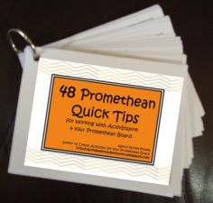 Download this FREE file as a .pdf and to make a set of 48 Quick Tips working with your #Promethean Board https://activinspireadventures.wikispaces.com/