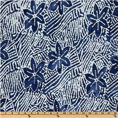 Indian Batik Floral Abstract