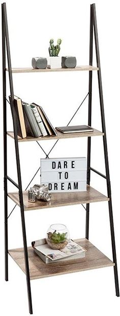 Best Bookshelf Ideas for Creative Decorating Projects A Best Bookshelves id… - Bücherregal Dekor Unique Bookshelves, Simple Bookshelf, Ladder Bookshelf, Industrial Bookshelf, Bookshelf Styling, Bookshelf Ideas, Industrial Furniture, Vintage Furniture, Diy Bookcases