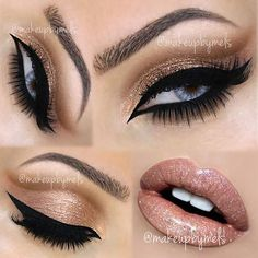 Using similar shades and tones on the eyes and lips is a simple but stunning way of glamming up your look #makeup #beauty