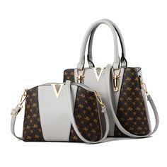 2 PCS Women Bags Set Leather Handbag Women Tote Bag Ladies Handbags Shoulder Bag Messenger Bag Bolsas Color Black Size – Purses And Handbags Totes Fashion Handbags, Tote Handbags, Purses And Handbags, Luxury Handbags, Cheap Handbags, Ladies Handbags, Luxury Purses, Women's Handbags, Soft Leather Handbags