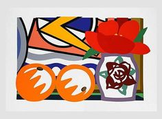 Tom Wesselmann, 'Still Life with Lichtenstein and Two Oranges', 1993, Screenprint, Paper 108 x 149.9 cm, Image 83.8 x 128.3 cm, Edition of 90 #art #tomwesselmann #alancristeagallery