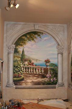 bathroom mural by Ramona Balaz-Schmidt  www.ramonabalaz.com
