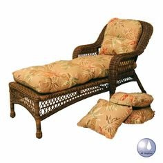Sanibel Resin Wicker Chaise Lounge Chair ~ Pamper yourself with this ultimately comfortable chaise lounge chair!