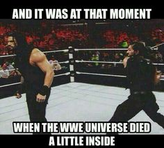 We all knew The Shield had to end sometime, to let the guys go their own ways, but this still hurt. Oh Seth!