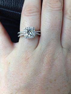 My pretty ring 11•12•13  Princess cut • halo setting • split shank