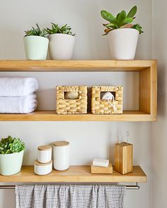 Simple ways to make your bathroom shine. Love practical shelving above the towel rack.