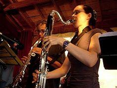 Dordogne Jazz Summer School - Ottilie on bass clarinet