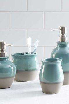 Master Bathroom Accessories pier 1: juliette glass bath accessories | decor | pinterest | bath