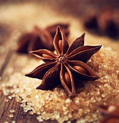 Star Anise on Brown Sugar - stock photo Macro Lens Photography, Fruit Photography, Still Photography, Chicken Painting, Spices And Herbs, Star Anise, Spice Blends, Food Illustrations, Different Recipes