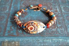 Unearthed Boho Bracelet Larger Size by TheJunquerie on Etsy, $38.00