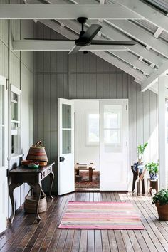 Nashua NSW accommodation: An idyllic cottage near Byron Bay - Outdoor Spaces - Cottage verandah with outdoor rug and vintage French provincial console table House Colors, House Design, House Styles, House Interior, Weatherboard House, Australian Homes, Cottage Interiors, Home, Edwardian House