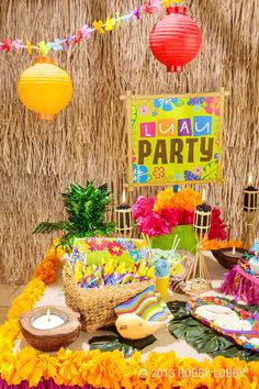 Create a tropical paradise to make to perfect luau!