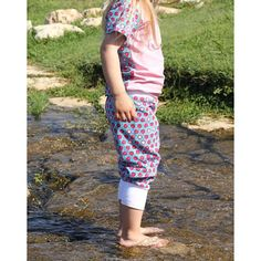 Zierstoff Children's Maxi Pants Sewing Pattern - Our MAXI pants pattern comes with two versions. Version 1 includes a knitted rib waistband and leg cuffs, and Version 2 includes an encased elastic band waist and hemmed legs.  ::  £5.00 Pdf Sewing Patterns, Free Sewing, Sewing Tutorials, Maxi Pants, Baggy Trousers, Pants Pattern, Fabric Online, Cute Pattern, Beautiful Patterns