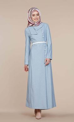 ACIK MAVİ Turkish Fashion, Islamic Fashion, Cute Fashion, Fashion Outfits, Moslem Fashion, Hijab Collection, Hijab Trends, Hijab Style, Islamic Clothing