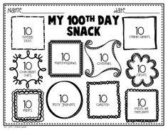 100th Day of School Freebie {Printables} by Mrs Jones' Creation Station | Teachers Pay Teachers