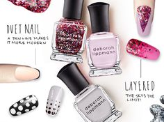 Deborah Lippmann, master manicurist, shares her tips for creating four runway-ready nail art. Read more on the Glossy!