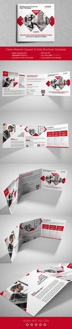 Corporate Tri-fold Square Brochure Template PSD #design Download: http://graphicriver.net/item/corporate-trifold-square-brochure-10/13967737?ref=ksioks