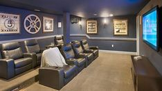 It's Better Than a Movie Theater, It's a Home Theater! ~ Toll Brothers #movieroomdecor