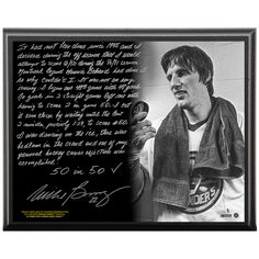 Mike Bossy Facsimile '50 Goals in 50 Games' Metallic 8x10 Story Plaque