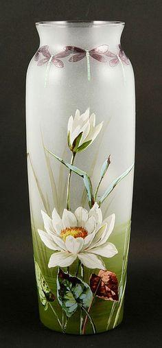 Art Nouveau Vase with Dragonflies - by Kaminski Auctions