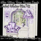 Lilac Sitting Room Square Ornate Arched Window Mini Kit