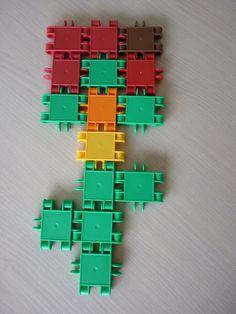 voorbeeld: bloem maken met clics Fauna, Pattern Blocks, Lego, Spring, Flowers, Art, Legos