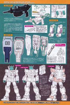 Mobile Suit Gundam The Origin: Mechanical Archives - Image Gallery Robot Series, Gundam Mobile Suit, Gundam Art, Mecha Anime, Super Robot, Robot Design, Mechanical Design, Robot Art, Gundam Model