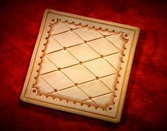 Hand Tooled Full Grain Leather Coasters - Quilted