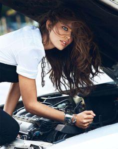 Model Emily Didonato, photographer Lachlan Bailey, MUA Christelle Cocquet for Vogue, Paris, September 2013