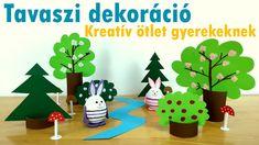 Tavaszi dekoráció papírból – Kreatív ötlet gyerekeknek