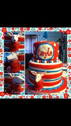 Olivia The Pig Themed Cake