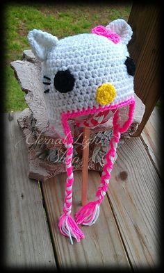 Hello Kitty Baby Beanie by EternalLightShop on Etsy, $17.00