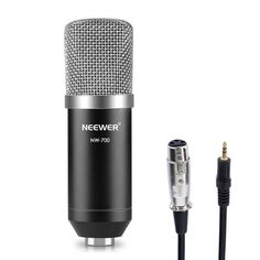 """- NW-700 Professional Condenser Microphone+Anti-wind Foam Cap+Cable (Black) 500&&this.width/(this.height/500)780)this.width=780;"""" height=""""500""""> 80&&th... #microphone #black #condenser #recording #studio #broadcasting #neewer"""