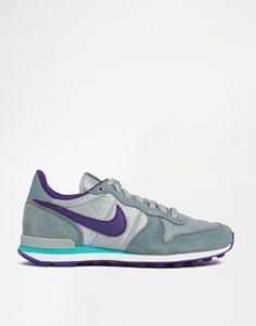 Nike Internationalist Grey/Purple Trainers