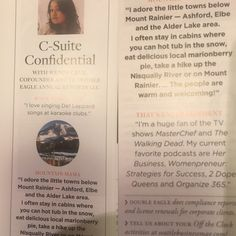 Feature in SEATTLE business magazine!