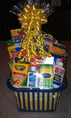 Back To School Basket I Made And Donated