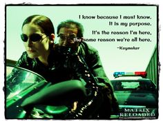 #Matrix Reloaded #Trinity #Keymaker #CarrieAnneMoss