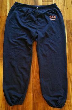 d01468097699 Vintage USA Adidas jogging Track Suit Pants Men 039 s XL 40 42 Trefoil  sweats blue
