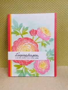 Kathryn's Cards----PTI cutting flowers