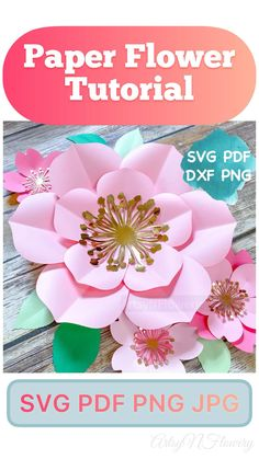 Free Paper Flower Templates, Flower Petal Template, Paper Flower Patterns, Paper Flower Tutorial, Big Paper Flowers, Paper Flower Wall, Paper Flower Backdrop, How To Make Flowers Out Of Paper, Small Flowers