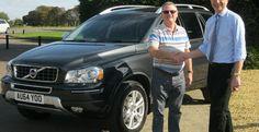 Hylton Gott Volvo handover dealership's last XC90  Client news from www.nobull-communications.co.uk