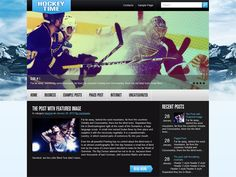 HockeyTime is excellent solution for your personal blog. This WordPress theme supports and comes with custom widgets, drop-down menus, javascript slideshow and lots of other useful features.
