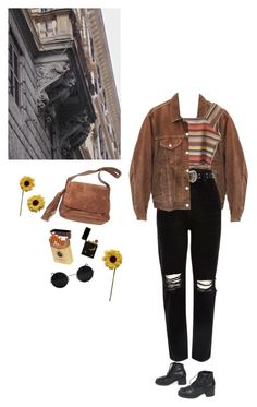 """black n' brown"" by fakuniall ❤ liked on Polyvore featuring Levi's, River Island, Chanel, duty free and ZiaBella"