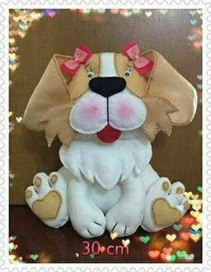 Molde de cachorrinho de feltro Baixar molde de cachorrinho em feltro para artesanato