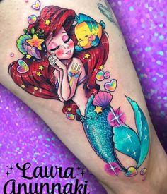 Likes, 714 Comments – ✨Laura Anunnaki✨ (Anunnaki Tattoo) on Instagr … - Inspirierende Tattoos Girly Tattoos, Disney Tattoos, Disney Sleeve Tattoos, Cartoon Tattoos, Trendy Tattoos, Love Tattoos, Beautiful Tattoos, Body Art Tattoos, Cat Tattoos