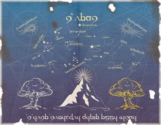 Middle Earth Star Map  //   by ~Sapiento on deviantART
