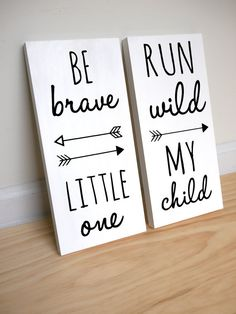Woodland Nursery Be Brave Little One and Run Wild My by HandyGerl